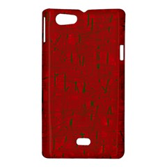 Red pattern Sony Xperia Miro