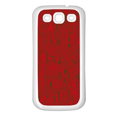 Red pattern Samsung Galaxy S3 Back Case (White)