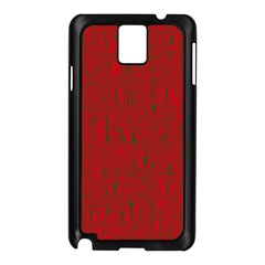 Red pattern Samsung Galaxy Note 3 N9005 Case (Black)