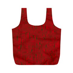 Red pattern Full Print Recycle Bags (M)