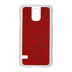 Red pattern Samsung Galaxy S5 Case (White)