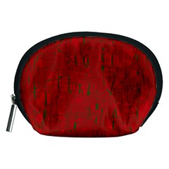 Red pattern Accessory Pouches (Medium)