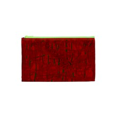Red pattern Cosmetic Bag (XS)