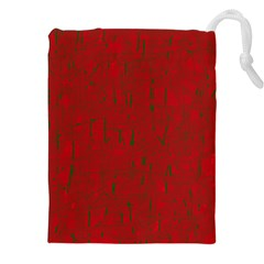 Red pattern Drawstring Pouches (XXL)