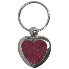 Purple pattern Key Chains (Heart)