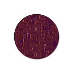 Purple pattern Rubber Round Coaster (4 pack)