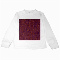 Purple pattern Kids Long Sleeve T-Shirts