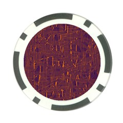 Purple Pattern Poker Chip Card Guards