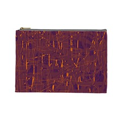 Purple pattern Cosmetic Bag (Large)