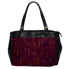 Purple pattern Office Handbags