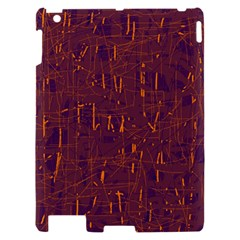 Purple pattern Apple iPad 2 Hardshell Case