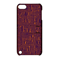Purple pattern Apple iPod Touch 5 Hardshell Case with Stand