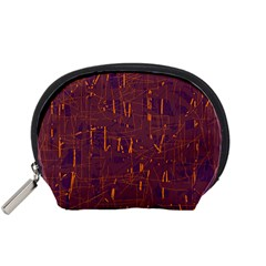 Purple pattern Accessory Pouches (Small)