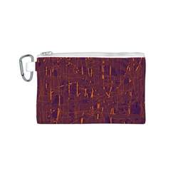 Purple pattern Canvas Cosmetic Bag (S)