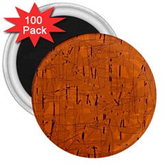 Orange pattern 3  Magnets (100 pack)