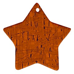 Orange pattern Star Ornament (Two Sides)