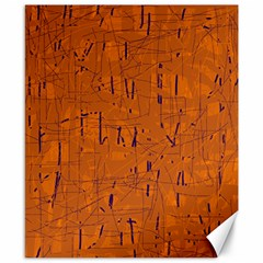 Orange pattern Canvas 8  x 10