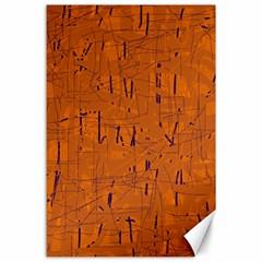 Orange pattern Canvas 24  x 36