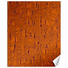 Orange pattern Canvas 11  x 14