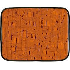 Orange pattern Fleece Blanket (Mini)