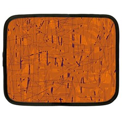 Orange pattern Netbook Case (XL)
