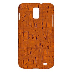 Orange pattern Samsung Galaxy S II Skyrocket Hardshell Case