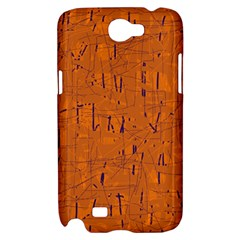 Orange pattern Samsung Galaxy Note 2 Hardshell Case