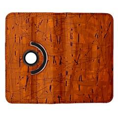 Orange pattern Samsung Galaxy Note II Flip 360 Case