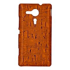 Orange pattern Sony Xperia SP