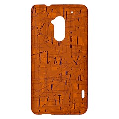 Orange pattern HTC One Max (T6) Hardshell Case