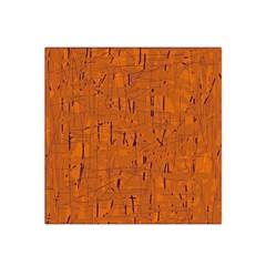 Orange pattern Satin Bandana Scarf