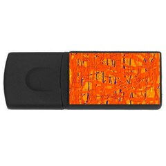 Orange pattern USB Flash Drive Rectangular (1 GB)