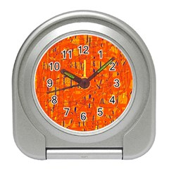 Orange pattern Travel Alarm Clocks