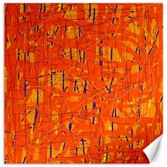 Orange pattern Canvas 12  x 12