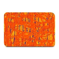 Orange pattern Plate Mats