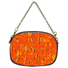 Orange pattern Chain Purses (One Side)