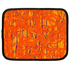 Orange pattern Netbook Case (XXL)