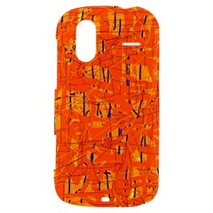 Orange pattern HTC Amaze 4G Hardshell Case