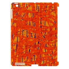Orange pattern Apple iPad 3/4 Hardshell Case (Compatible with Smart Cover)
