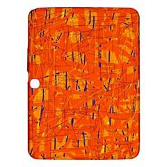 Orange pattern Samsung Galaxy Tab 3 (10.1 ) P5200 Hardshell Case