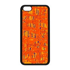 Orange pattern Apple iPhone 5C Seamless Case (Black)