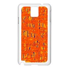 Orange pattern Samsung Galaxy Note 3 N9005 Case (White)