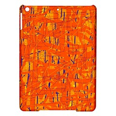 Orange pattern iPad Air Hardshell Cases