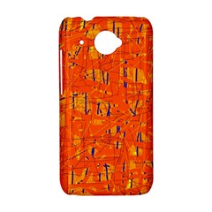 Orange pattern HTC Desire 601 Hardshell Case