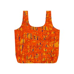Orange pattern Full Print Recycle Bags (S)