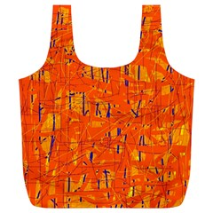 Orange pattern Full Print Recycle Bags (L)