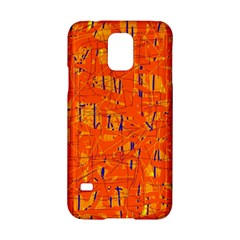 Orange pattern Samsung Galaxy S5 Hardshell Case
