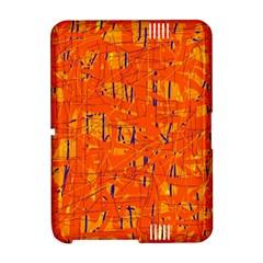 Orange pattern Amazon Kindle Fire (2012) Hardshell Case