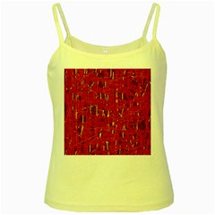 Red and blue pattern Yellow Spaghetti Tank