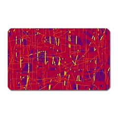 Red and blue pattern Magnet (Rectangular)